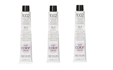 Revlon Nutri Colour Creme Tube 1002 Blanc Platinum 100 ml x 3