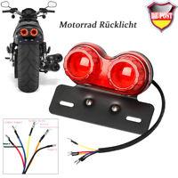 Motorrad LED Rücklicht Blinker Bremslicht Heckleuchte Nummernschild Lampe Rot