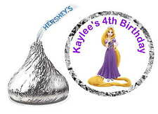108 RAPUNZEL TANGLED BIRTHDAY PARTY FAVORS ~ HERSHEY KISS KISSES LABELS