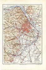 Landkarte map 1909: Umgebung von WIEN, Massstab: 1 : 225.000