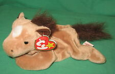 TY Beanie Baby Derby Tan Horse with Star Fur Mane Tail MWMT DOB September 16 '95
