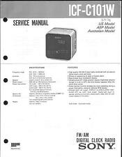 Sony Original Service Manual für ICF- C 101 W