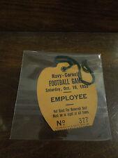 Navy- Cornell Football Employee Ticket Stub Oct 10,1953 NO. 377