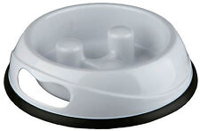 WhiteTrixie Dog Puppy Slow Feed Bowl Non Slip Prevent Bloat & Gulping Lge 25033
