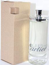 EAU DE CARTIER 6.7 OZ EDT SPRAY (UNBOX) FOR MEN BY CARTIER NEW NO BOX
