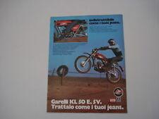 advertising Pubblicità 1975 GARELLI KL 50 E.5V.