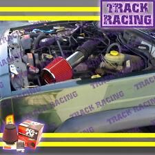 99-04 JEEP GRAND CHEROKEE LAREDO 4.0L I6 4.7L V8 AIR INTAKE KIT + K&N Red S
