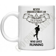 Never Underestimate..Running Novelty Gifts For Dad Grandad Funny Tea Coffee Mug