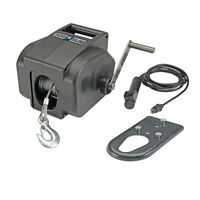 2000lb 12V Wired Remote Electric Winch Marine Car Boat Trailer Truck Towing ATV