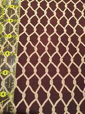 100% Cotton Salmon Run Steve Marquez 7462-3 brown fish net / nautical fabric BTY