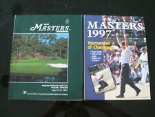 2 1997 Masters Golf Journal Program –Augusta National -Tiger Woods 1st Major