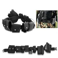 10-in-1 Black Tactical Nylon police Security Guard Belt Utility Kit System