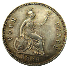 More details for 1836 william iv silver fourpence / groat coin - unc