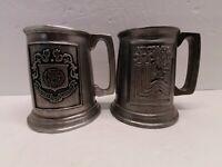 Vintage Pewter Beer Tankard Mug Lake Placid Winter Olympics & Olivet College