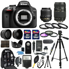 Nikon D3300 Digital Camera + 18-55mm VR + 70-300mm + 30 Piece Accessory Bundle