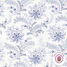 Moda SUMMER BREEZE Ivory Blue Floral 32592 11 Sentimental Studio QUILT FABRIC