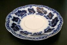 Johnson Bros Flow Blue Normandy Saucers (2)