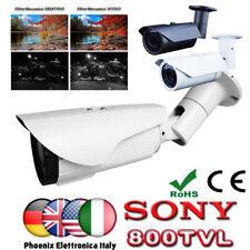 Telecamera  SONY 800TVL  48 IR Notturna FILTRO MECCANICO BIANCA METALLO