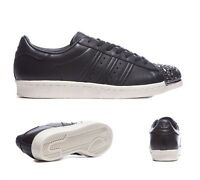 Womens Adidas Superstar 80's 3D Metal Toe Black/White Trainers RRP £99.99