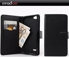 avadoo® Medion Life E5006 Flip Case Cover Tasche Leder in Schwarz Dualnaht Cover