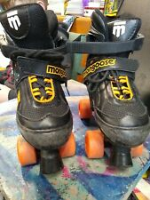 Mongoose Inline Skates - Roller Blades Fully Adjustable Youth Size 1-4 Black/Ora