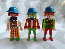 Playmobil spares 3 x clown  figures   (will combine postage where i can)