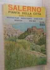 SALERNO PIANTA DELLA CITTA Scala 1:7000 1973 Opuscolo pieghevole Turismo Guida