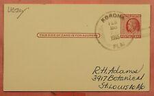 DR WHO 1955 LAST DAY DPO 1918/1955 KORONA FL POSTAL CARD 159296