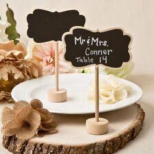 Marque-place tableau vintage base bois Mariage baptême bonbonnière ardoise