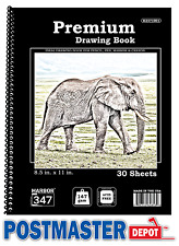 "Harbor 347 Premium Drawing Book (Sketchbook), Best Quality Paper, 8.5"" x 11"" NEW"
