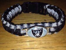 Oakland Raiders Survival Paracord Bracelet NFL Purple And Black Decoration