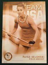 2016 Topps Olympics Gold 5X7 Jumbo Card Paige Selenski Field Hockey #/10 Rare
