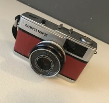 Olympus Trip 35 * Red Leather * Film Camera + Case -