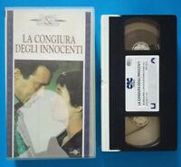 VHS Film Ita Thriller LA CONGIURA DEGLI INNOCENTI hitchcock CIC no dvd cd (V162)