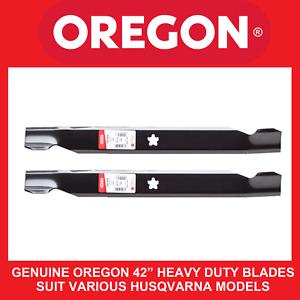 "Husqvarna heavy duty 42"" pressed deck blades-GENUINE Oregon®"