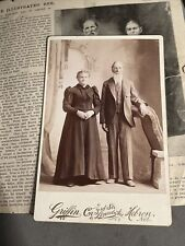 Cabinet Card Photo 1st White Couple Married In Nebraska Brigham Young Mormon