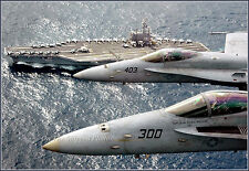 Photo: F/A-18C Hornets Above Carrier Uss Ronald Reagan, Pacific Ocean - 2007