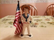 Bethany Lowe- Sailor Boy with Flag. Pre-owned. Retired
