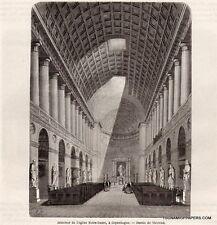 GRAVURE 1862 ENGRAVING DENMARK COPENHAGE COPENHAGEN EGLISE NOTRE DAME CHURCH