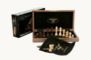 Quality DAL ROSSI Wooden Chess Set 12″ Family Board Game Fathers Day Gift