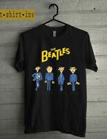the beatles t shirt cartoon reprint size S M L XL 2XL