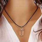 Natural Quartz Crystal Healing Point Chakra Cut Gemstone Pendant Reiki Necklace