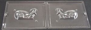 """5 3/4"""" Bunny Cart 2 Pc Chocolate Candy Mold Set Cybr Trayd 3D E224B Easter Solid"""
