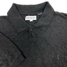 Yves Saint Laurent Vintage Gray Short Sleeve YSL Polo Shirt Mens Large L