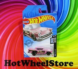 2020  Hot Wheels  Pink  '57 CHEVY    Rod Squad  Card #180   HW36-100620