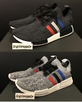 Adidas NMD R1 PK Primeknit Tri-Color 8-12 Black BB2887 White BB2888 Glitch Camo