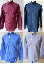 Ben Sherman Men's No Pattern Cotton Blend Collared Casual Shirts & Tops