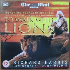 TO WALK WITH LIONS DVD RICHARD HARRIS IAN BANNEN CONTINUING SAGA OF BORN FREE