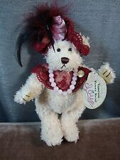 "Brass Button Bear Vanessa Power Bear Of LOVE 2000 12"" with Tags"