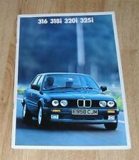 BMW 3 serie E30 FOLLETO 1988 316 318 I 320I 325I